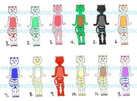 Candy Tiger Adopts, 12 OPEN by PewterKat