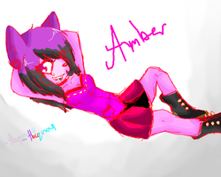 Amber (forgot her tail XD) by SoulessMonster