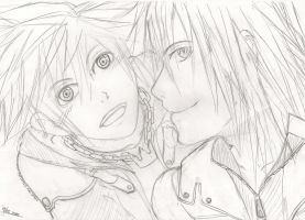 Sora and Riku by Teardroppsintherain