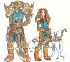Warcraft Orc and Blood Elf by tiffc