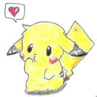 Kawaii Pikachu by Bilkie