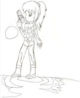zero suit samus first drawing by Sephiano
