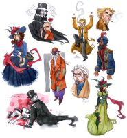 Alan Moore watercolor dump by hanime87