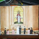 Parents Wedding Painting by Sheltie2b
