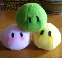 Dango Plushies by FreshCrayons