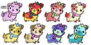 Dog Adoptables(closed) by PrePAWSterous