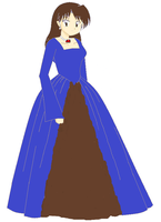 Me anime style in a dress by GolfingQueen