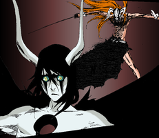 Hollow Ichigo vs Ulquiorra by SkyzerX
