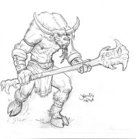 minotaur-sketch by hamex