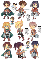 SHINGEKI NO KYOJIN STICKERS by Sychandelic