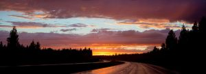 Sunset road by JuhaniViitanen