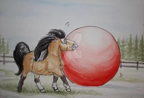 Falkens Indiana Jones and the Red Ball of Doom by Raining-Tree-Stables