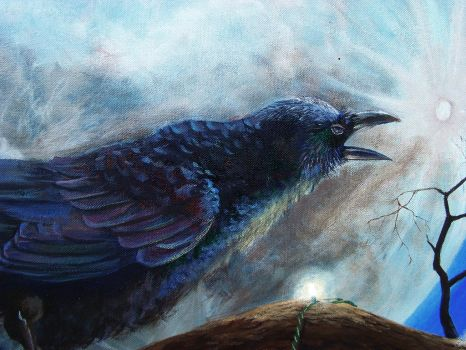 Corvus and Luna Crow Detail by tommyhawk13