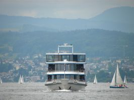 Sailing on Lake Zurich by Agatje