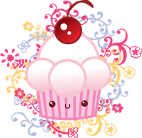 kawaii cupcake by Irym