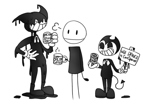 BATIM Bacon Coffee Break (Doodle) by castformgrass