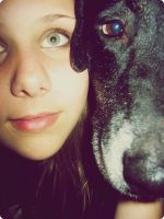 A dog and his girl by peaceloveandkerri