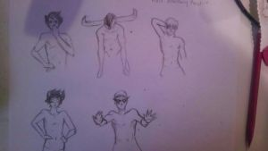 Anatomy Practice that Quickly turned Homestuck by amporastuck