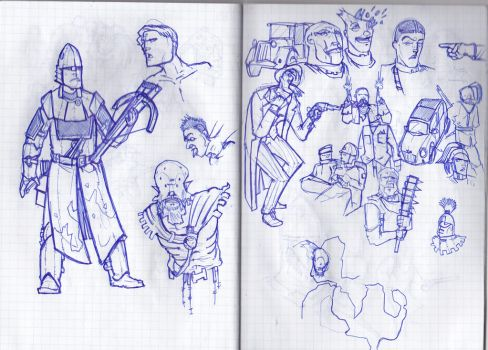 Some sketches from the University's notes 3 by LordCarmi