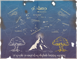 Middle Earth Star Map by Sapiento