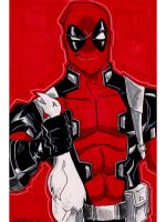 Sketch 108 of 100 DEADPOOL by misfitcorner