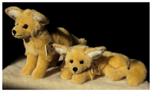 Kosen Fennec Fox Pair by The-Toy-Chest
