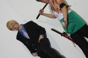 Zoro and sanji ready to fight by Kairte