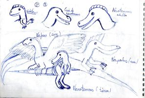 Nanotemnus,Naficus,Narpolus and Sclatorus by Dino-drawer