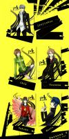 Persona 4 Postcard Set by cullets