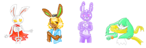 My Fave 4 Bunnies From Offical Games by sheezy93