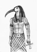 Thoth - Pencils by NightElf86