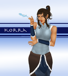 Korra used Water Gun by Clavelle