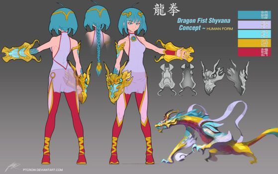 Dragon Fist Shyvana ~Costume Concept + by ptcrow