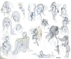 Sketches figures by MadamMontecristo