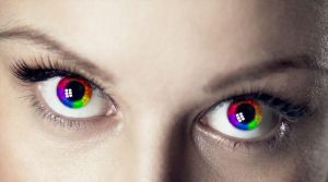 Rainbow Eyes (New Version) by ellenah1