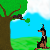 Dutches and Junebug (Contest Drawing) by xXSkeletonWolfXx