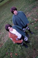 Rivaille and Eren cosplay. by BakaSaru2000