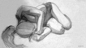 Figure Drawing 0004: Reclining by KrulMagus