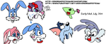 Some Tiny Toon Heads by ericremotesteam