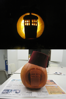 TARDIS pumpkin by Peeka13