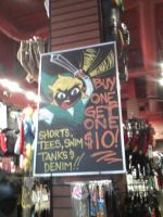 Hot Topic advertisement featuring Link by watercolos