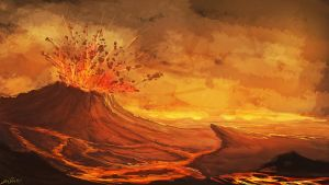 Volcanic fields by Chillay