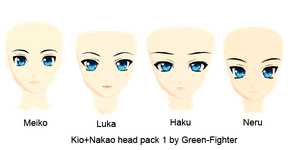 MMD Kio+Nakao head pack 1+DL by Green-Fighter