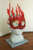 Fire Spirit Leather Mask by nondecaf