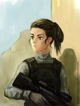 Sniper Portrait by AnastasiaMorning