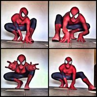 Spidey shoot using my comic style spiderman mask by WicKeDM6