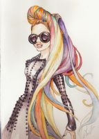 Gaga Rainbow Hair by DibuMadHatter