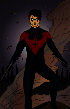 Nightwing New 52 (Colored) by Youngjusticeaddict