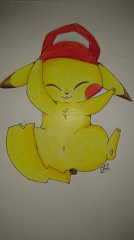 Pikachu Traditionelle Art by Sesilia21