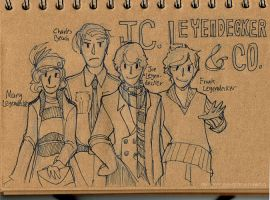SketchADay: 13 J. C. Leyendecker and Co. by mintyfreshmangos